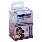 Neil Med Nasal Saline, Sterile, Ampoules