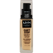 NYX Professional Makeup Full Coverage Foundation, Can't Stop Won't Stop, Warm Vanilla CSWSF06.3