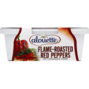 Alouette Cheese, Soft Spreadable, Flame-Roasted Red Peppers