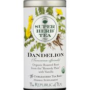 The Republic of Tea Super Herb Tea, Dandelion, Unbleached Tea Bags