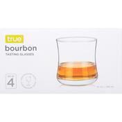 True Bourbon Glasses, Set of 4
