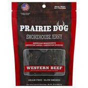Prairie Dog Jerky Treat, Real, For Adult Dogs, Smokehouse Jerky, Western Beef