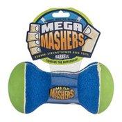 Mega Mashers Rubber-Strengthened Dog Toy Barbell