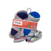 Kidgets Boys 2T-4T Striped Quarter Socks