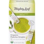 Mighty Leaf Organic Matcha Tea Singles