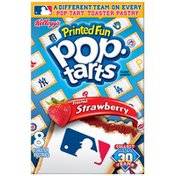 Kellogg's Pop-Tarts Printed Fun MLB Frosted Strawberry Toaster Pastries
