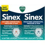 Vicks Sinus Congestion, Pressure & Pain LiquiCaps Pain Reliever/Nasal Decongestant