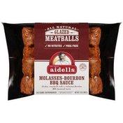 Aidells Chicken Meatballs, Molasses Bourbon BBQ Sauce Glazed, 12 oz. (Fully Coo