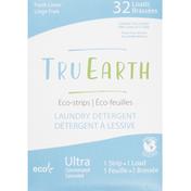 Tru Earth Laundry Detergent, Eco-Strips, Fresh Linen