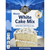 First Street Cake Mix, White, Moist
