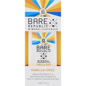 Bare Republic Sunscreen, Mineral, Vanilla-Coco, SPF 50