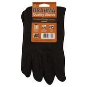 Brahma Gloves, Large,  Brown Jersey, Insulated