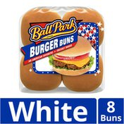 Ball Park Pre-Sliced Bakery Fresh Classic White Hamburger Buns