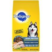Pedigree High Protein Adult Dry Dog Food Chicken and Turkey Flavor