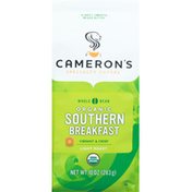 Camerons Coffee, Organic, Whole Bean, Light Roast, Southern Breakfast