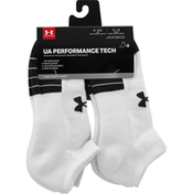 Under Armour Adult Performance Tech Now Show Socks 6 Pack - L - White