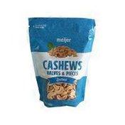 Meijer Salted Roasted Halves & Pieces Cashews With Sea Salt