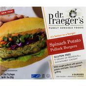 Dr. Praeger's Burgers, Pollock, Spinach Potato
