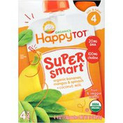 Happy Tot Organics Organic Bananas, Mangos & Spinach + Coconut Milk