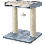"""You & Me 19.8"""" Small Gray Scratch & Play Rustic Cat Perch"""