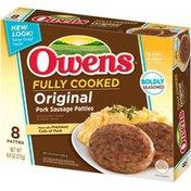 Owens Fully Cooked Original Pork Owens Fully Cooked Original Pork Sausage Patties