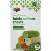 Hannaford Mountain Fresh Free & Clear Fabric Softener Sheets