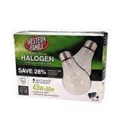 Western Family 43 Watt Halogen Light Bulbs