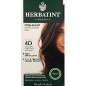 Herbatint Haircolor Gel, Permanent, Golden Chestnut 4D