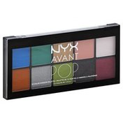 NYX Professional Makeup Shadow Palette, 10 Color, Art Throb APSP01
