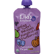 Ella's Kitchen Stage 1 Sweet Potatoes, Pumpkins, Apples, Blueberries Baby Food