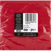 Amscan Napkins, Luncheon, Apple Red, 2-Ply
