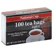 National Cup Tea, Orange Pekoe & Pekoe Cut Black, Bags/Tagless