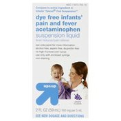 Up&Up Pain and Fever, Infants', Dye Free, Suspension Liquid, Grape Flavor