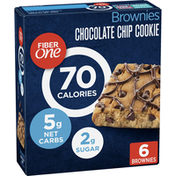 Fiber One 70 Calorie Chocolate Chip Brownies, 6 Brownies