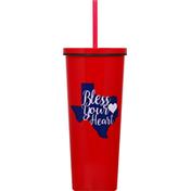 Haven & Key Straw Tumbler, TX Bless, 24 Ounce