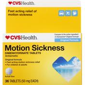 CVS Health Motion Sickness, 50 mg, Tablets