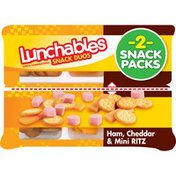 Lunchables Snack Duos Ham, Cheddar & Mini Ritz Cracker Snack Packs