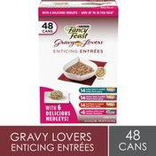 Purely Fancy Feast Gravy Wet Cat Food Variety Pack, Gravy Lovers Enticing Entrees Collection