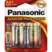 Panasonic Battery, Alkaline, AA