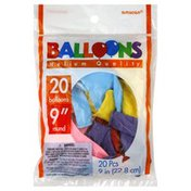 Amscan Balloons, 9 Inch, Helium Quality, Round, Assorted