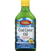 Carlson Labs Cod Liver Oil, Wild Norwegian, Lemon