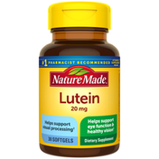 Nature Made Lutein 20 mg Softgels