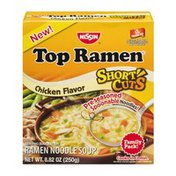 Nissin Top Ramen Noodle Soup Short Cuts Chicken