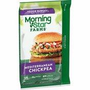 Morning Star Farms Veggie Burgers, Plant Based Protein, Mediterranean Chickpea