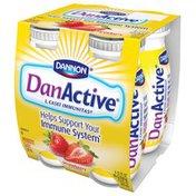 DanActive Dairy Drink, Probiotic, Strawberry Flavored