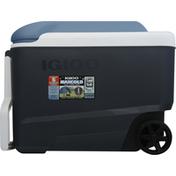 Igloo Cooler, Maxcold, Wheelie Cool, Jet, 40 Quarts