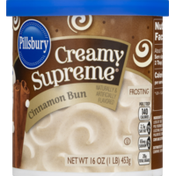 Pillsbury Frosting, Cinnamon Bun, Creamy Supreme, Tub