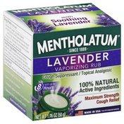 Mentholatum Vaporizing Rub, Maximum Strength, Cough Relief, Lavender