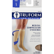 Truform Below Knee Stockings, Medical Compression, Firm, Beige, X-Large