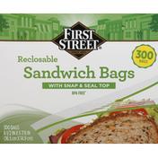 First Street Sandwich Bags, Reclosable